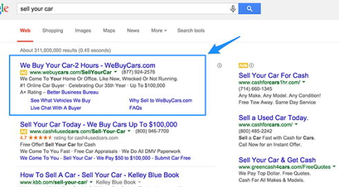 Difference between SEO and SEM - AdWords